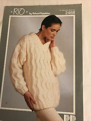 Ladies Sweater Knitting Pattern In Mohair • 0.85£