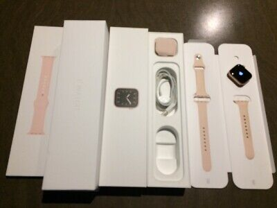 AU439 • Buy Apple Watch Series 5 40mm Gold AL Case (GPS & Cellular) Pink Sport Band