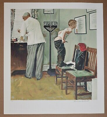 $ CDN2283.66 • Buy American Artist Norman Rockwell, Original Signed Lithograph Doctors Office