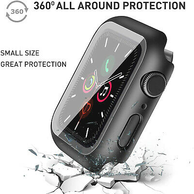 $ CDN12.34 • Buy For Apple Watch IWatch Series SE 6 5 4 3 2 1 Case Full Glass Cover 40 42 44mm CA