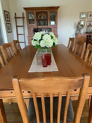 AU500 • Buy Farmhouse Dining Table And Set Of 8 Dining Chairs, Vic Ash Timber By Nuwood