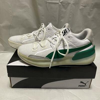 Puma Clyde Hardwood White/Green Size Men 9.0US • 110.91£