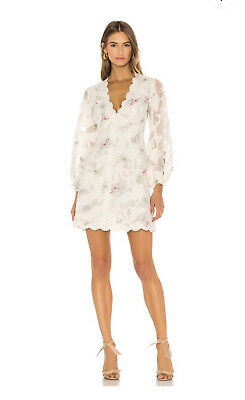 AU590 • Buy Zimmermann Zinnia Lace Applique Mini Dress Sz0