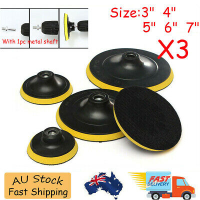 AU15.99 • Buy 3'' 5'' 6'' 7'' Backing Backer Pad Discs Wheel M14 X3 Angle Grinder Sanding Disc