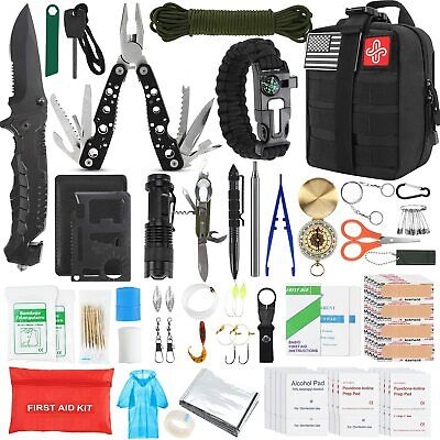 $52.78 • Buy Survival Molle First Aid Kit Emergency Gear Military Trauma Bag Professional 100
