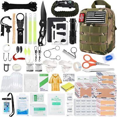 $57.58 • Buy Survival Molle First Aid Kit Emergency Gear Military Trauma Bag Professional 500