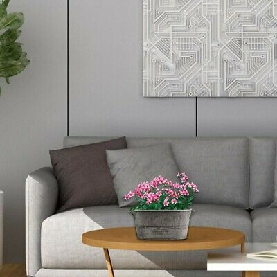 Vintage Oval Galvanised Zinc Metal Plant Flower Planter Pot With Handle • 7.89£