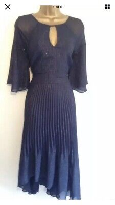 AU45.15 • Buy Coast Shimmer Navy Dress Special Occasion Party Size 10 Never Worn