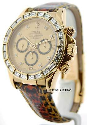 $ CDN30288.88 • Buy Rolex Daytona 18k Yellow Gold & Diamond Mens Chronograph Watch 16518