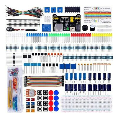 1X(Electronics Component Super Kit With Jumper Wires,Color Led,Resistors,Re Z8S5 • 19.19£