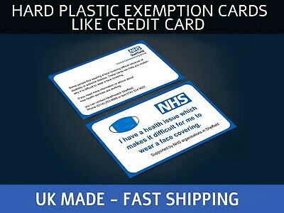 Face Exemption Card Lanyard Plastic Badge Lanyard And Holder • 4.05£