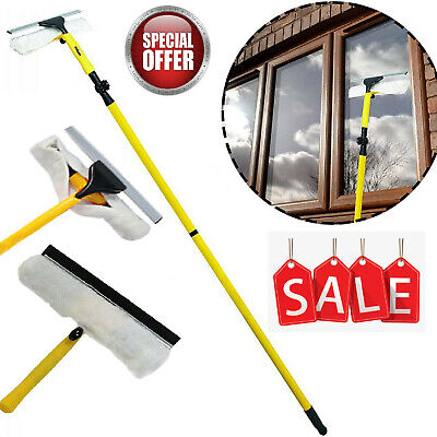 3.5M Telescopic Window Cleaner Extendable Cleaning Long Pole Glass Squeegee HQ • 17.76£