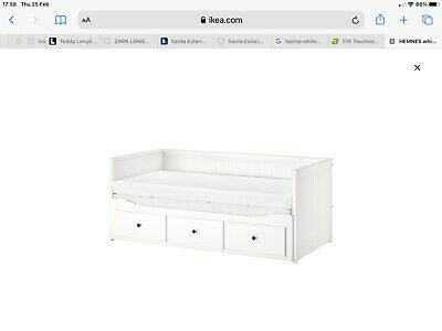 Single Bed Frame White Wood (IKEA) With 3 Storage Drawers Suitable For Child • 100£