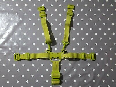 GENUINE ICandy Peach 1  Sweet Pea  Green Seat Full Harness Straps, With Marks. • 4.95£