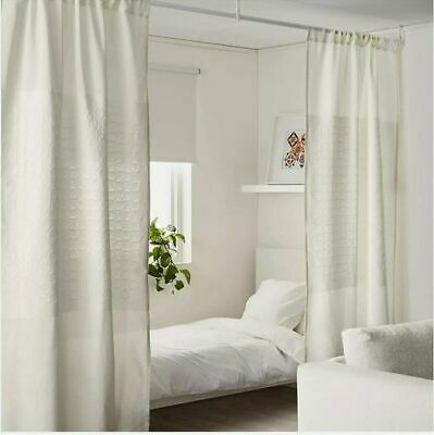 IKEA PAPYRUSSÄV Pair, Room Divider Panel X2 Curtains,bedroom, Lounge, Patrician  • 20£