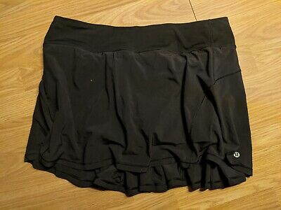 $ CDN20 • Buy NEW Lululemon Black Pleated Skort Size 10 - Without Tags - Tennis, Running, Yoga