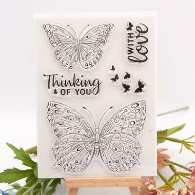 £2.29 • Buy Butterfly Silicone Clear Seal Stamp DIY Scrapbooking Embossing Photo Album Card