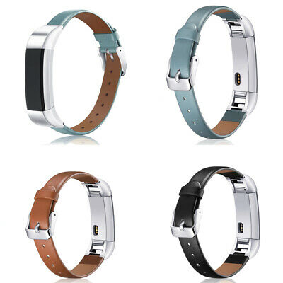 AU18.29 • Buy Luxury Leather Replacement Wrist Band Strap Bracelet For Fitbit Alta HR Watch UB