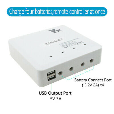 AU61.83 • Buy For DJI Mavic Air 2 Drone RC 6 In 1 Smart Battery Multi Charger USB Charging Hub