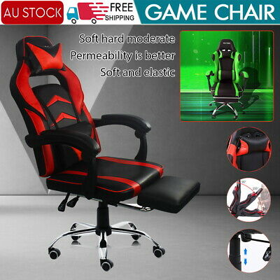 AU125.59 • Buy Gaming Chair Office Executive Computer Chairs Seating Racing Recliner Backrest