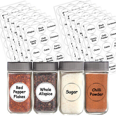£2.99 • Buy Spice / Herb Storage Pantry Container Jar Labels Kitchen Stickers Waterproof