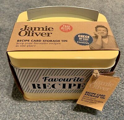 AU10 • Buy Jamie Oliver Recipe Card Storage Tin