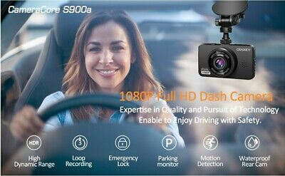 AU72.23 • Buy ORSKEY Dash Cam For Cars Front And Rear 1080P Full HD In Car Camera Dual Lens...
