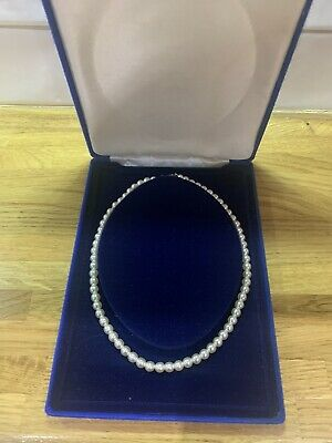 Beautiful Vintage Single Strand Faux Pearl Necklace Choker In Box • 8.99£