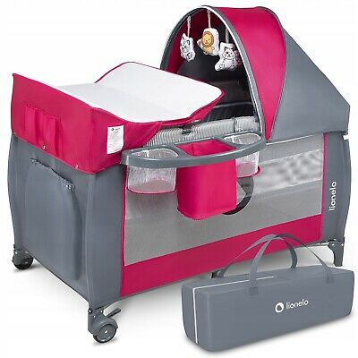 AU171.30 • Buy BABY BED TODDLER KIDS TRAVEL COT CHANGING ACCESSORIES SVEN LIONELO Pink/Rose