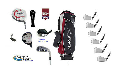 AU387.43 • Buy Senior Mens Regular Length AGXGOLF Complete Golf Set Graphite Woods, Bag, Putter