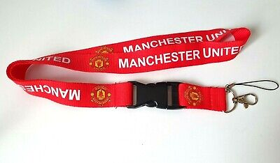 £5.99 • Buy Official Manchester United FC Lanyard ID I.D Detachable Keyring & Phone Dongle
