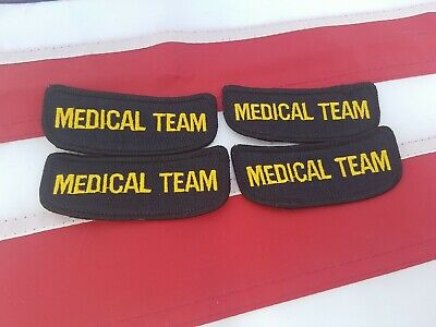 $9.99 • Buy Lot Of 4 Medical Team Patches Military Militia