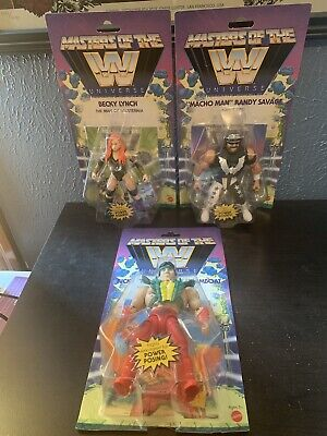 $95 • Buy WWE Masters Of The Universe Beck Lynch, Ricky Steamboat, Macho Man, Wave 5