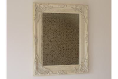 French White Mirror Shabby Chic Ornate Wall Hanging Home Decor Baroque Art New  • 23.99£