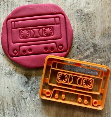 £4 • Buy Cassette Tape Cookie Cutter, Biscuit Icing Embosser Stamp