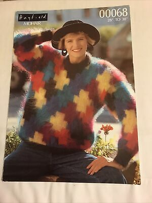 Ladies Sweater Knitting Pattern In Mohair • 0.95£