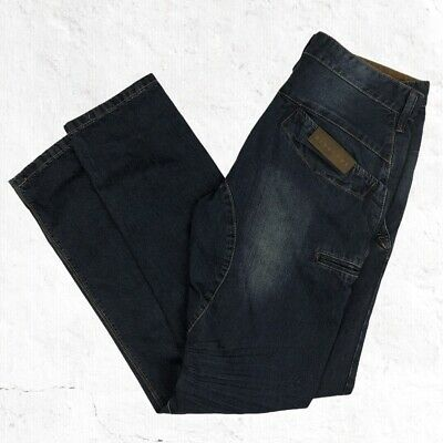 RingSpun Denim Goods Button Fly Jeans Size 34X33 Stretch Nugget • 21.45£