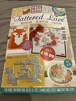 Tattered Lace Magazine With Die, No46 ROSE PLAQUE • 8.50£