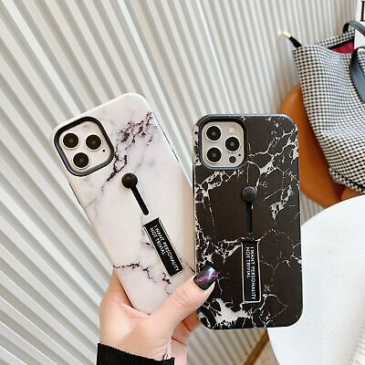 AU11.79 • Buy For IPhone 12 11 Pro Max XR 8 7Plus Marble Phone Case With Invisible Finger Loop