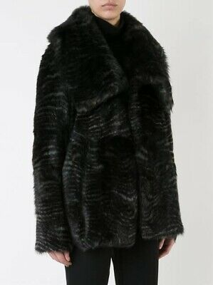 "AU800 • Buy Scanlan Theodore ""Toscana"" Shearling Leather Reversible Jacket Size ML Rrp $2800"