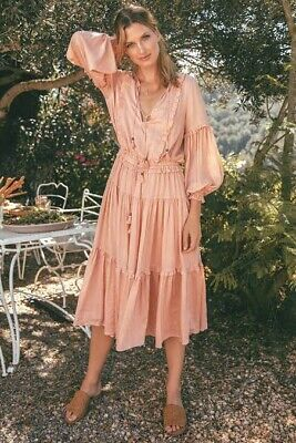 AU249 • Buy Spell And The Gypsy Clementine Midi Dress Blush Pink XS