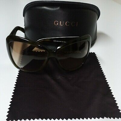 Gucci Women Ladies Sunglasses Shades With Case Cleaning Cloth • 114.44£