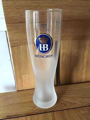 RARE ITEM- Hofbrau Weissbier / Lager Tall Style Frosted Pint Glass • 5£