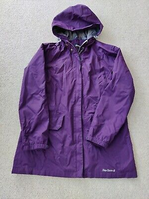 Women's Ladies Peter Storm Shield Waterproof  Jacket Coat Purple Size 16 • 17£