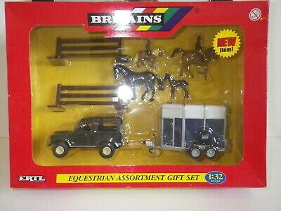 Britains Land Rover And Ifor Williams Trailer Equestrian Horse Set, Boxed. • 40£