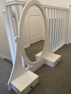 IKEA Hemnes Vanity Mirror For Dressing Table Or Chest Of Drawers White Satin • 19£