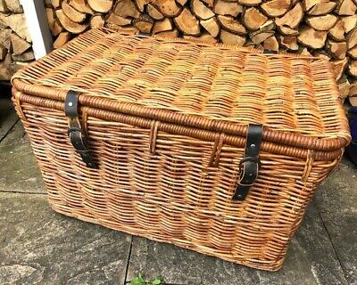 Large Wicker Storage Chest/Trunk/Ottoman/Toy Basket 75 X 46 X 46cm • 20£