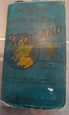 £10.99 • Buy Vintage THE SAFETY CYCLING MAP OF SCOTLAND Gall & Inglis Circa 1900's