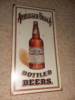 $ CDN7.60 • Buy Anheuser-busch   (  Budweiser ,bottled Beers)   Metal  Sign