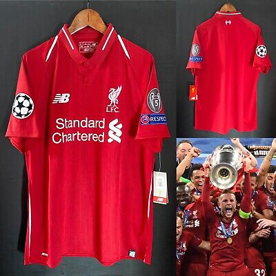 £200 • Buy Liverpool 18-19 UEFA Champions League Home Official Shirt Winners Final